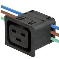 4710 IEC Appliance Outlet J, Snap-in Mounting, Front Side, IDC Terminal