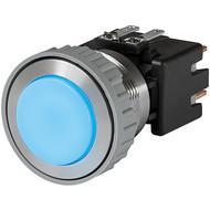 MSM LA CS 22 Metal Switch with ceramic actuator Surface backlighting bright blue