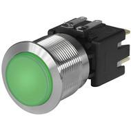 MSM LA CS 22 Metal Switch with ceramic actuator Surface backlighting bright green