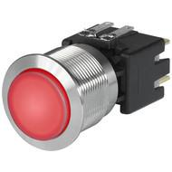 MSM LA CS 22 Metal Switch with ceramic actuator Surface backlighting red