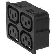 4751 4751 with 4 ganged outlets in black en IM0016839