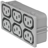 4751 4751 with 6 ganged outlets in grey en IM0016841