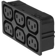 4751 4751 with 6 ganged outlets in black en IM0016842
