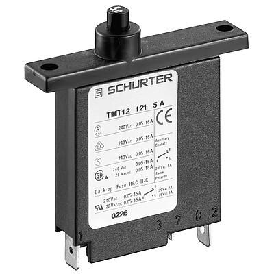 TM12-121 Circuit Breaker for Equipment thermal-magnetic, Flange type, Manual ON/OFF, Quick connect terminals
