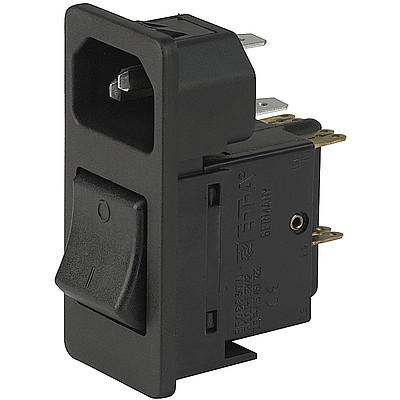 7764 IEC Appliance Inlet C14 with Circuit Breaker