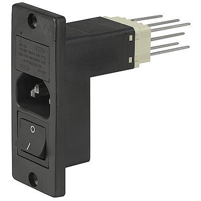 6788 IEC Appliance Inlet C14, with Line Switch 2-pole, Voltage Selector and Fuseholder 1or 2-pole