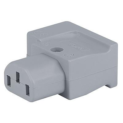 4013 IEC Connector C13, Rewireable, Angled