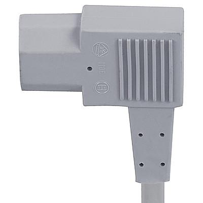 3011 Power Cord with IEC Connector C13, Angled