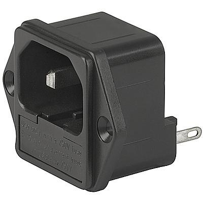 1066 IEC Appliance Inlet C18 with Fuseholder 1- or 2-pole