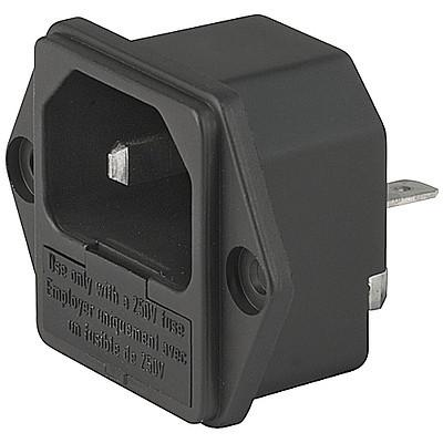 1065 IEC Appliance Inlet C18 with Fuseholder 1-pole