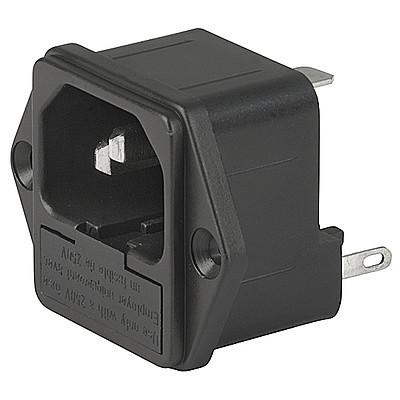 1062 DD21 - IEC C14 connector with fuse holder 1- or 2-pole en IM0004948