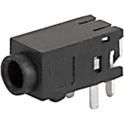 4831.2330 Audio plug 2.5mm  3-pole  insulated and straight for PCB mounting en IM0005029