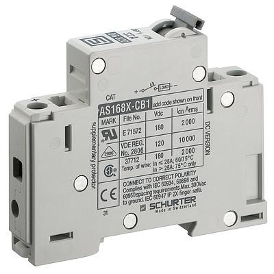 AS168XDC1 Circuit Breaker for Equipment thermal-magnetic, 1 pole
