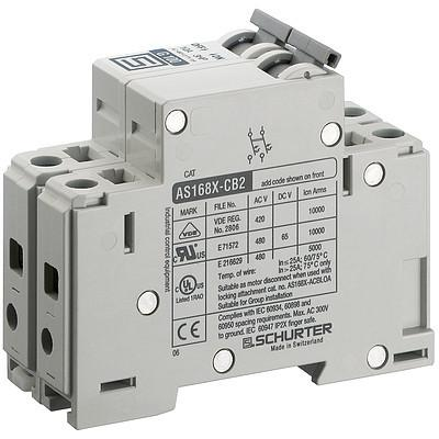 AS168XAC2 Manual Motor Controller / Circuit Breaker for Equipment thermal-magnetic, 2 poles