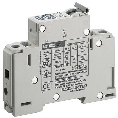 AS168XAC1 Manual Motor Controller / Circuit Breaker for Equipment thermal-magnetic, 1 pole
