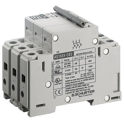 AS168XDC3 Circuit Breaker for Equipment thermal-magnetic, 3 poles