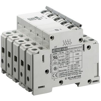 AS168XAC4 Manual Motor Controller / Circuit Breaker for Equipment thermal-magnetic, 4 poles