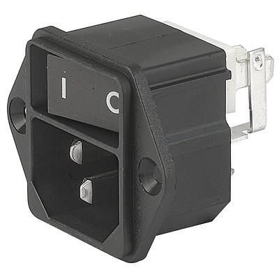 KEB1 IEC connector C14 with line switch 1-pole Screw-on from front side non-illuminated  black en IM0005486