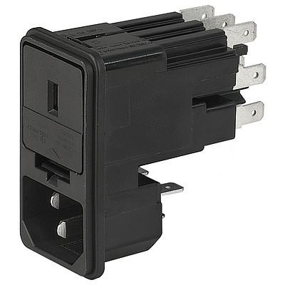 KE IEC connector C14 with fuse holder 1- or 2-pole Snap-in version from front side en IM0005489