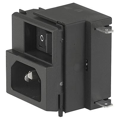 GRM1 IEC Appliance Inlet C14 with Fuseholder 2-pole, Line Switch 2-pole and Voltage Selector