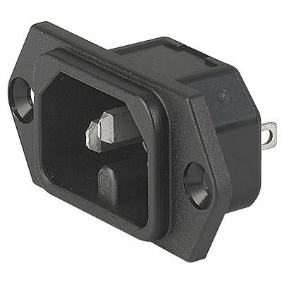 6110-3 6110-3 - IEC connector C16  screw-on mounting from front- or rearside  with solder- or quick-connect terminal en IM0005510