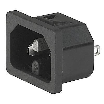 6110-4 6110-3 - IEC connector C16  screw-on mounting from front- or rearside  with solder- or quick-connect terminal en IM0005603