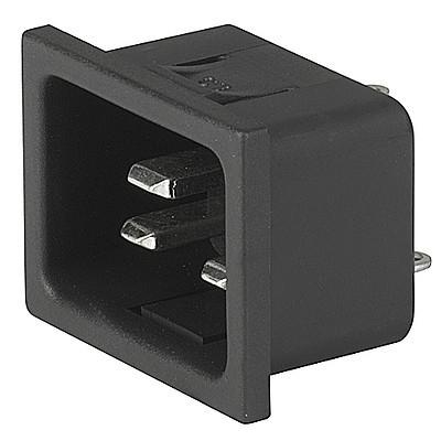 4793 IEC C20 connector Snap-in mounting from front side Solder or quick connect terminals en IM0005607