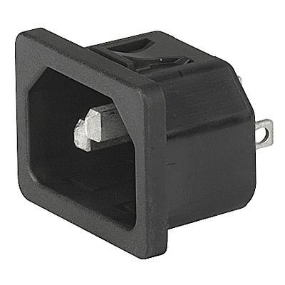 6100-4 6100-4 - IEC connector C14  snap-in mounting from frontside with solder- or quick-connect terminal en IM0005608