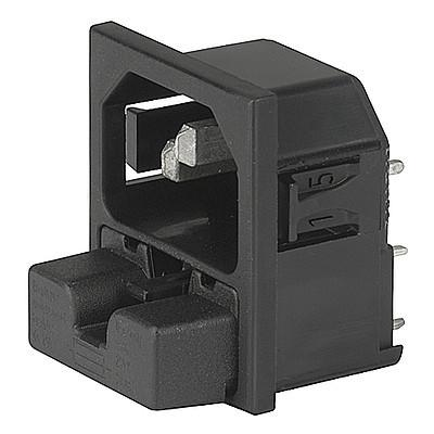 6250 / 6255 IEC Appliance Inlet C14 with Fuseholder 1- or 2-pole, mates to Felcom