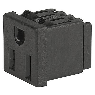 0710 0710 - NEMA Line Outlet 5-15R  snap-in mounting from frontside  wire or quick-connect terminal en IM0005900