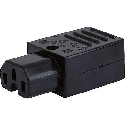 0101 IEC Connector C15, Rewireable, Straight
