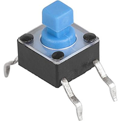 6x6 mm tact switches LPS: Through hole, square