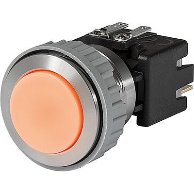MSM LA CS 22 Metal Switch with ceramic actuator Surface backlighting orange