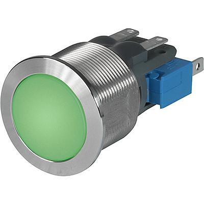 MSM CS 19 Metal Switch with ceramic actuator Surface backlighting green