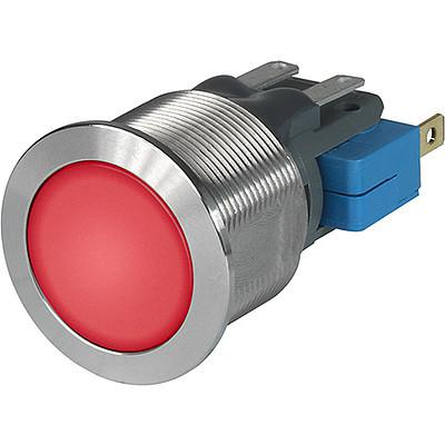 MSM CS 19 Metal Switch with ceramic actuator Surface backlighting red