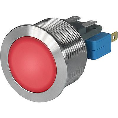 MSM CS 22 Metal Switch with ceramic actuator Surface backlighting red