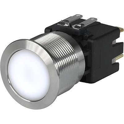 MSM CS 22 Metal Switch with ceramic actuator Surface backlighting bright white