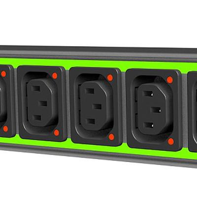 6600-5 Example PDU with integrated light Pipes en IM0015945