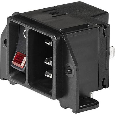 DC21 Screw-on mounting and line Switch illuminated red en IM0016502