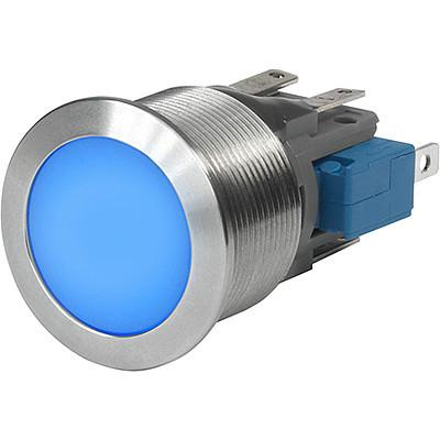 MSM CS 19 Metal Switch with Ceramic Actuator, Switching Voltage up to 30 VDC / 250 VAC