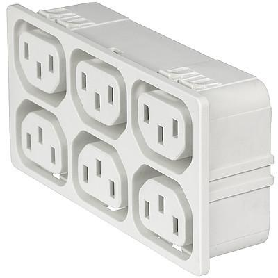 4751 4751 with 6 ganged outlets in white en IM0016843