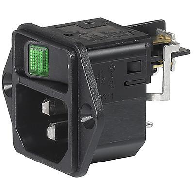 DC11 Screw-on mounting and line Switch illuminated green en IM0017787