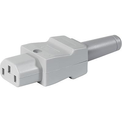 4022 IEC Connector C13, Rewireable, Straight