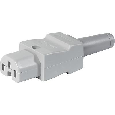 8101 IEC Connector C15, Rewireable, Straight